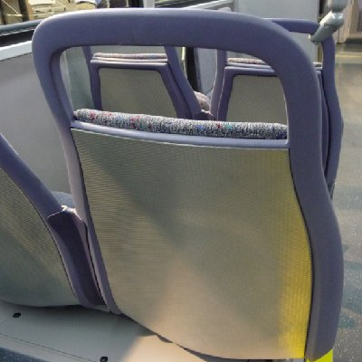 Bus seat back